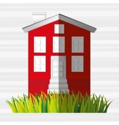 beautiful house design vector image