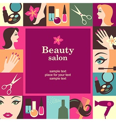 Beauty salon frame vector