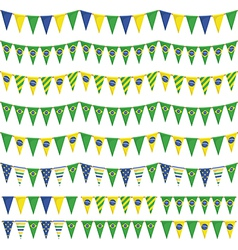brazil party bunting vector image vector image