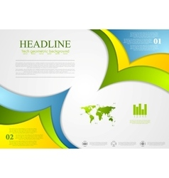 Bright corporate abstract contrast background vector image vector image