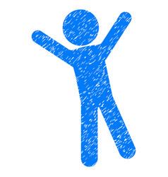 child joy grunge icon vector image vector image