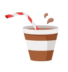 Coffee or Cocoa in Flat Design vector image vector image