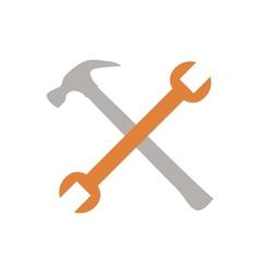 Crossed tools vector