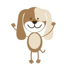 Cute dog pet vector