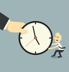 fighting over time vector image vector image