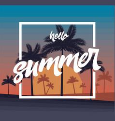 Hello summer poster vector