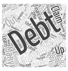 How to find suitable debt consolidation financing vector