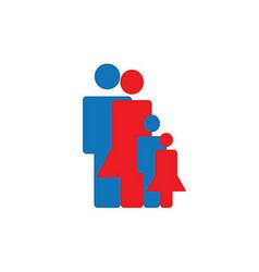 Icon build family vector