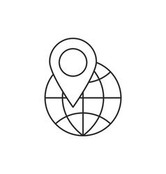 Location icon outline vector