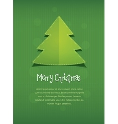 Merry christmas postcard nnew year tree text vector