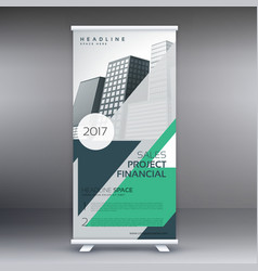 modern standee roll up design template with vector image vector image
