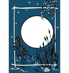 moonlit night vector image