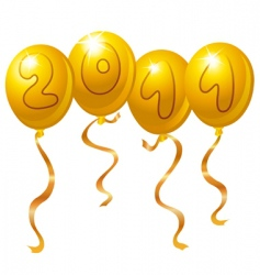 new year balloons vector image vector image