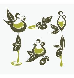 Olive oil symbols vector