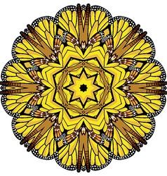 Round ornate circle design vector