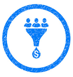 Sales funnel rounded grainy icon vector
