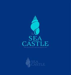 Sea castle logo vector
