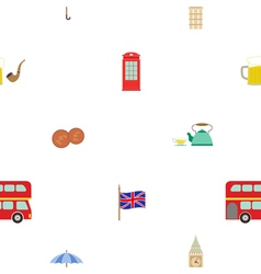 Seamless pattern with england icons vector image