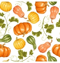 Seamless pattern with pumpkins Decorative vector image
