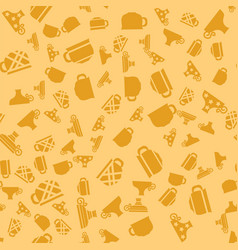 Set of coffee cups seamless pattern vector