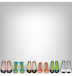 shoes on background vector image vector image