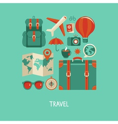 travel vector image vector image