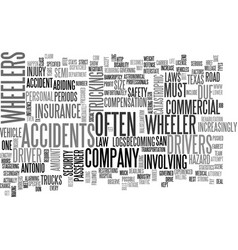 Wheeler accidents in san antonio tx text word vector