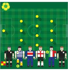 World Cup 2014 Group D vector image