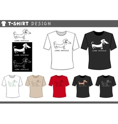 T shirt design with dachshund vector