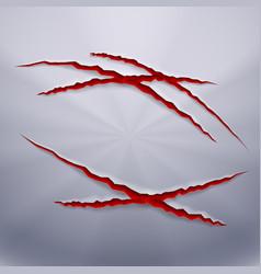predator scratches vector image