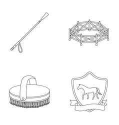 Aviary whip emblem hippodrome hippodrome and vector