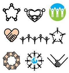 logo icons unity vector image