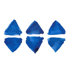 watercolor colorful blue triangles banner vector image