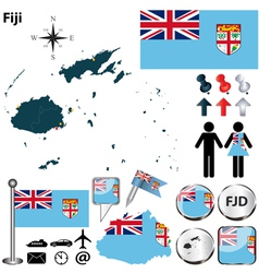 Fiji map vector