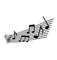 note musical melody harmony concert vector image