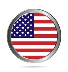 Usa flag button vector