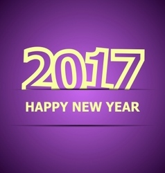 2017 happy new year on violet background vector