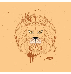 Stylized Lion Head5 vector image