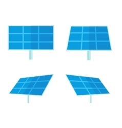 Four solar panels with white background vector
