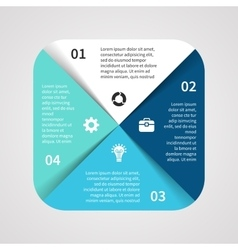 Square infographic template for cycle vector