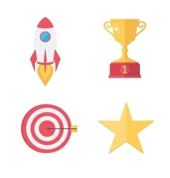 Success awards icons set vector