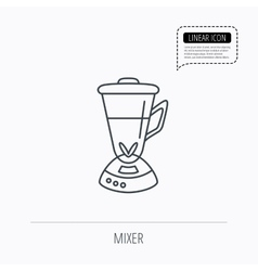 Mixer icon blender sign vector