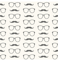 Seamless pattern of mustache and glasses vector