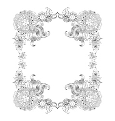 Frame with sketch doodles decorative elements vector