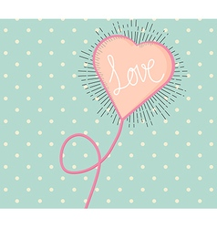 Love heart vintage style with hand writing love vector