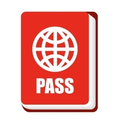 Passport cover isolated icon design vector