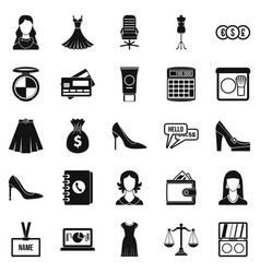 Business development icons set simple style vector