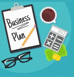 Business planning banner vector