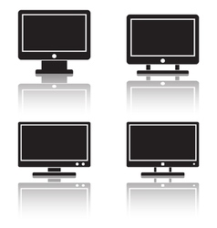 Computer monitor icons vector image