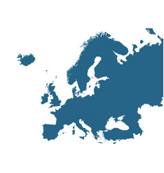 detailed map of europe vector image